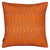 Ukelele Guitar Pattern Linen Cotton Cushion in Bright Pumpkin Orange 45x45cm