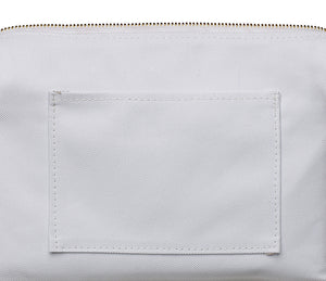 Stitchwork Toiletry Bag - White