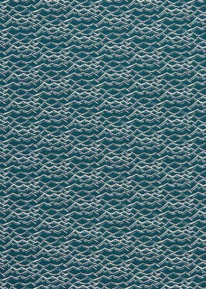 Waves Pattern Home Decor Fabric Curtains Blinds Upholstery by meter or yard Dark Petrol Blue Canada USA