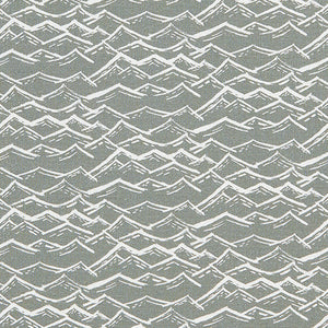 Waves home interior decor Fabric for curtains, blinds and upholstery in cotton linen by meter or yard in light dove grey ships from Canada to USA
