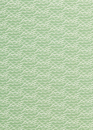 Waves pattern home decor interiors fabric for curtains, blinds and upholstery in sea foam light green available by the meter or yard ships from Canada worldwide including the USA