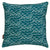 Waves throw pillow dark petrol blue canada usa
