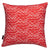 Waves pattern home decor throw pillow geranium red ships from Canada worldwide including the USA