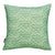 Waves pattern throw pillow in seafood green ships from Canada
