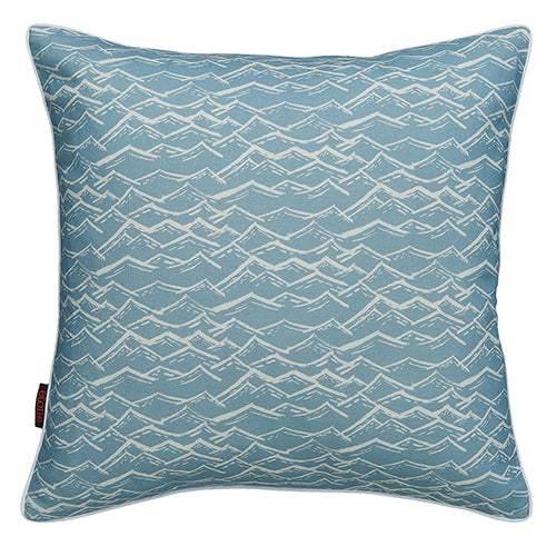 Waves throw pillow in pale winter blue ships from Canada