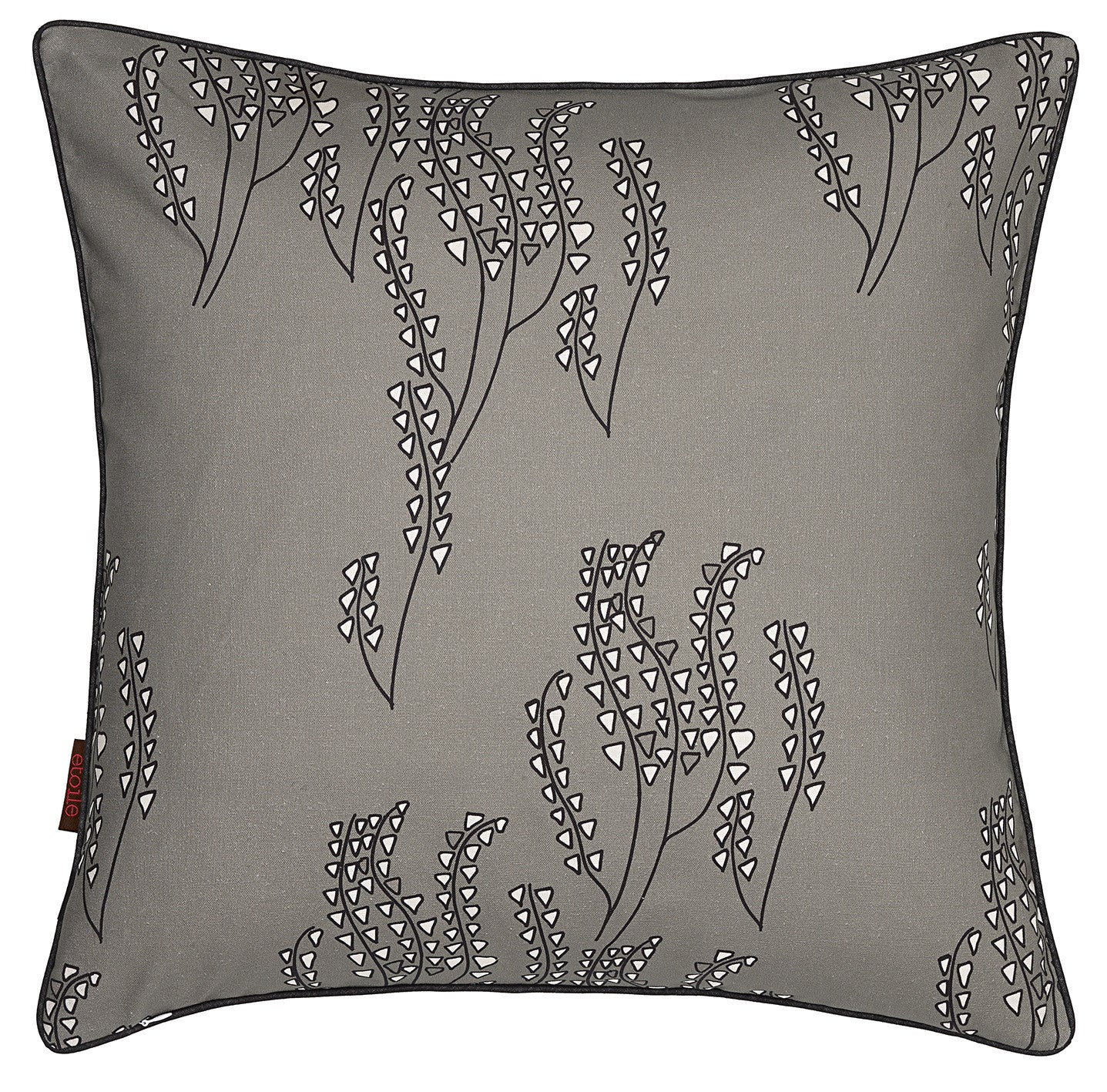 Yuma Grass Pattern Linen Cotton Throw Pillow in Light Dove Grey ships from Canada worldwide including the USA