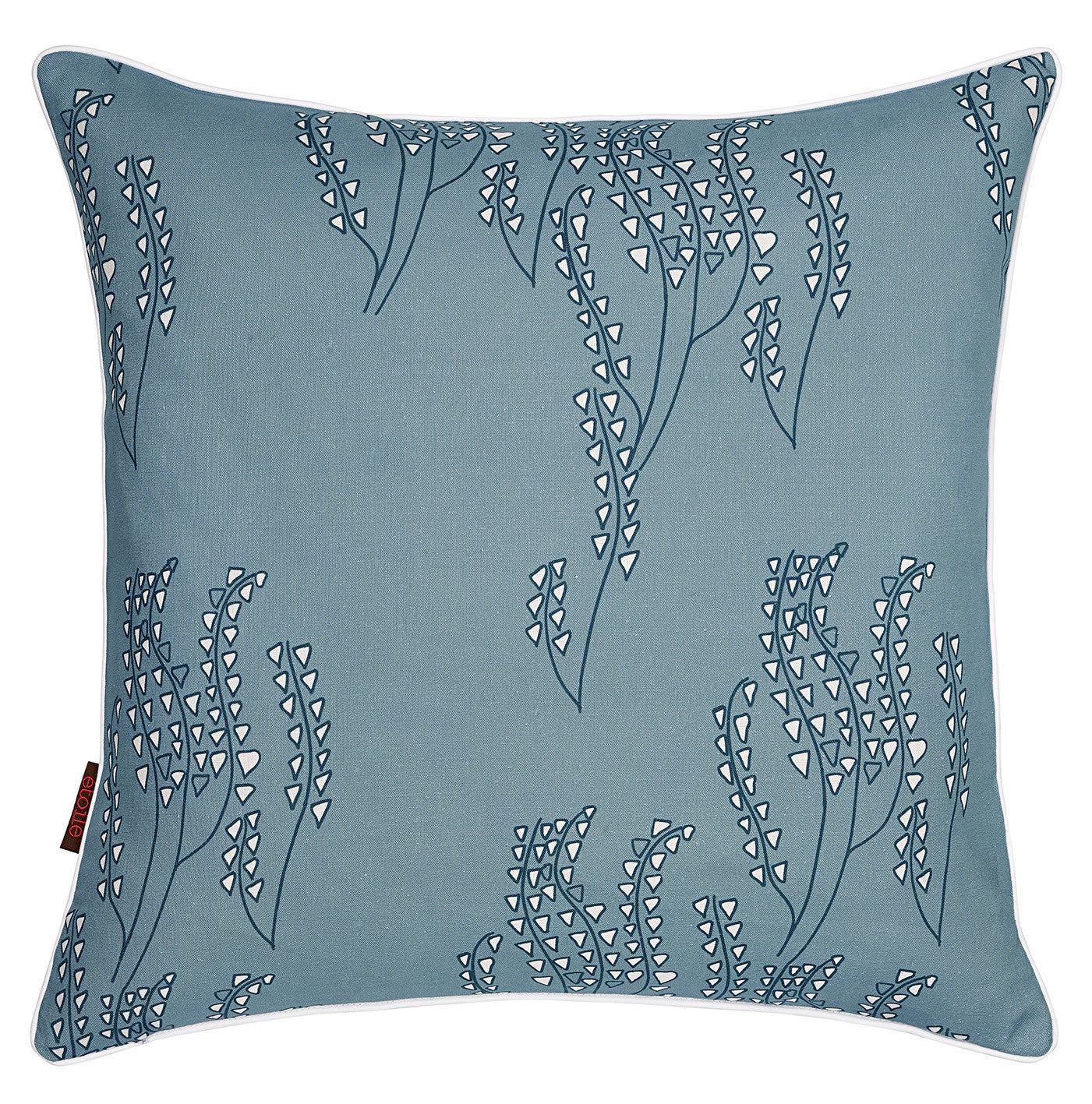 Yuma Grass Pattern Linen Throw Pillow in Light Chambray Blue ships from Canada worldwide including the USA