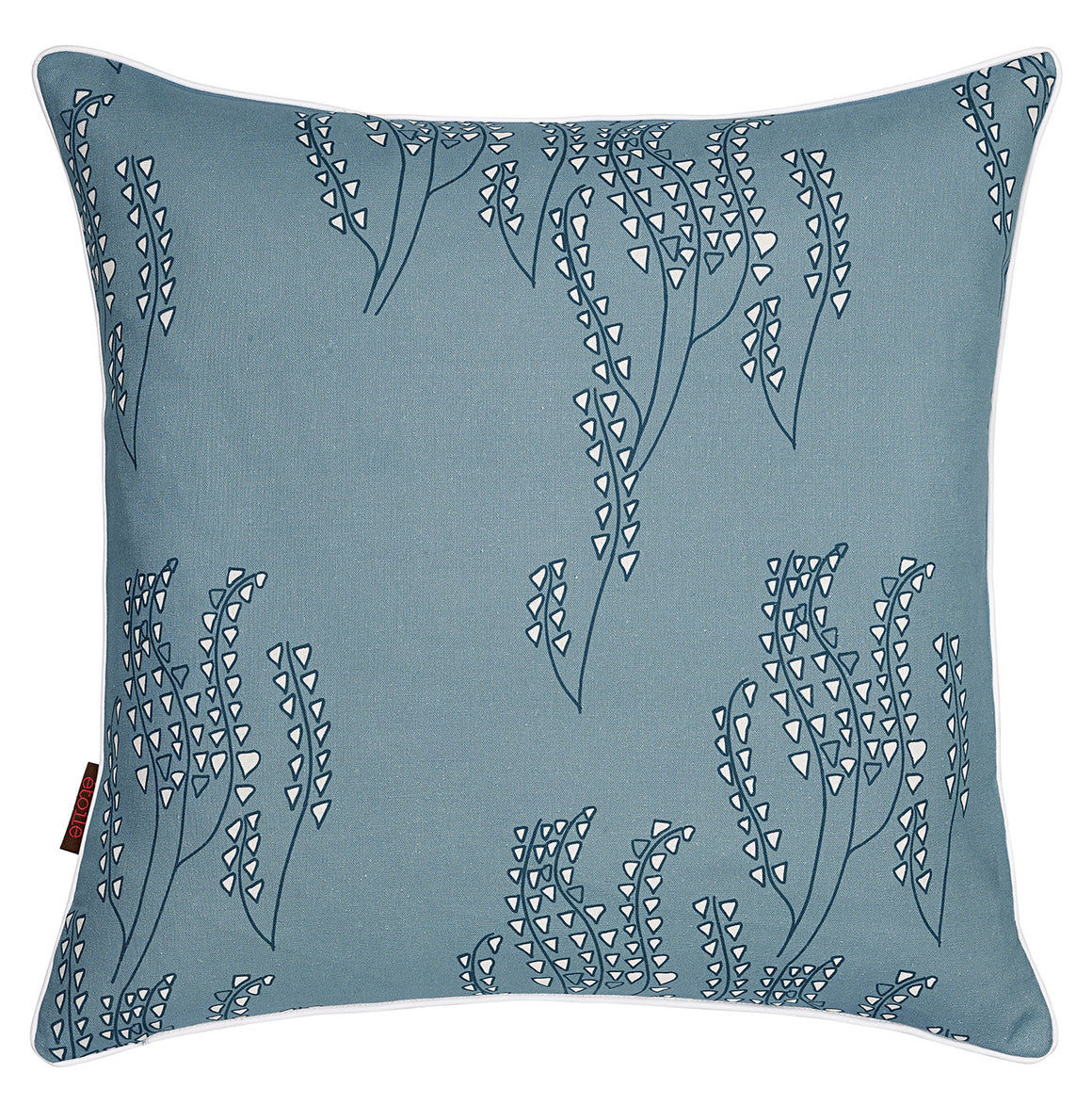 Yuma Grass Pattern Linen Cushion in Light Chambray Blue