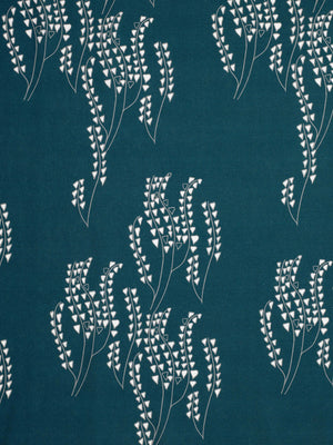 Yuma Graphic Grass Pattern Linen Cotton Canvas Home Interiors Decor Fabric by the yard or meter for curtain, blinds or upholstery - Dark Petrol Blue (navy)/Grey - ships from Canada (USA)