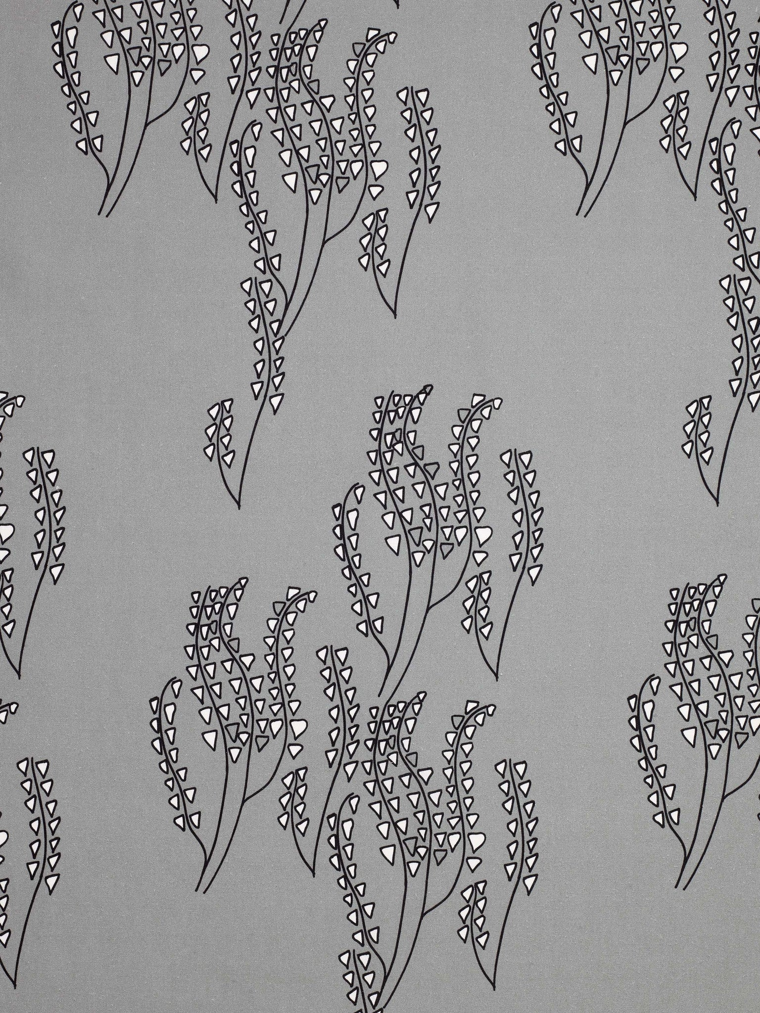 Yuma graphic Wild grass pattern cotton linen Home decor interior Fabric by the yard or meter for curtains, blinds or upholstery - Dove Grey - black - ships from Canada (USA)