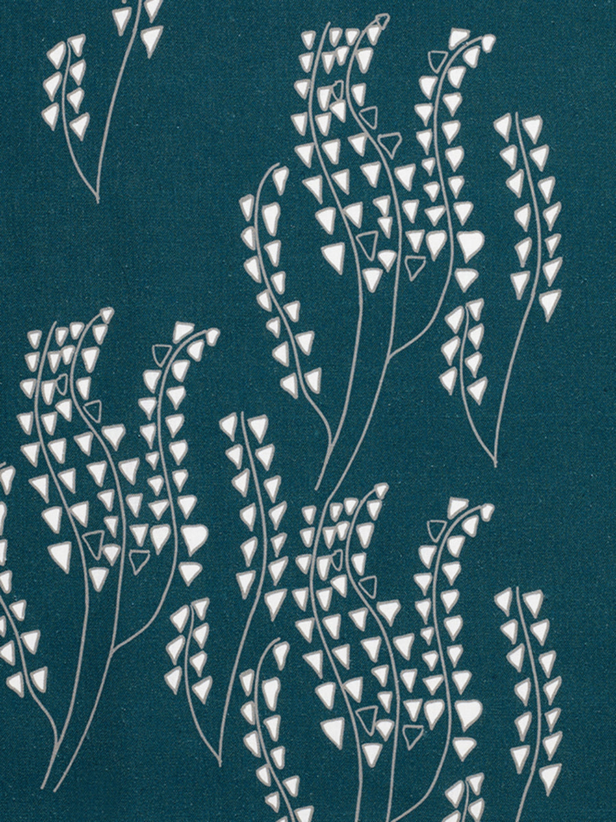 Yuma Fabric - Petrol Blue/Grey