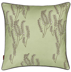Yuma Grass Pattern Linen Cushion in Light Eau de Nil Green