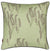 Yuma Grass Pattern Linen Throw Pillow in Light Eau de Nil Green ships from Canada to USA