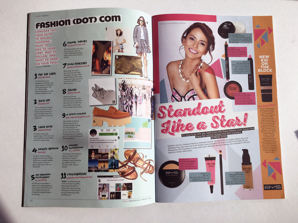 LIANA ROSA featured in Chalk Magazine - Fashion (dot) com
