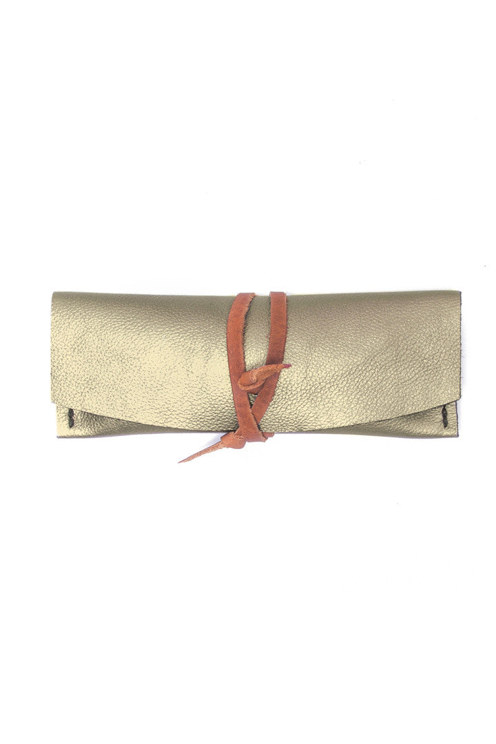 Delia Silver Leather Eyewear Case by Liana Rosa