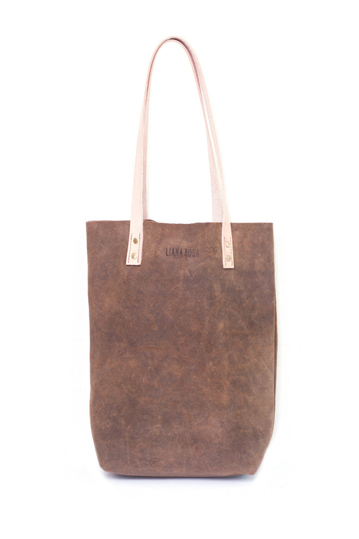 Gene Olive Suede Tote Bag by Liana Rosa