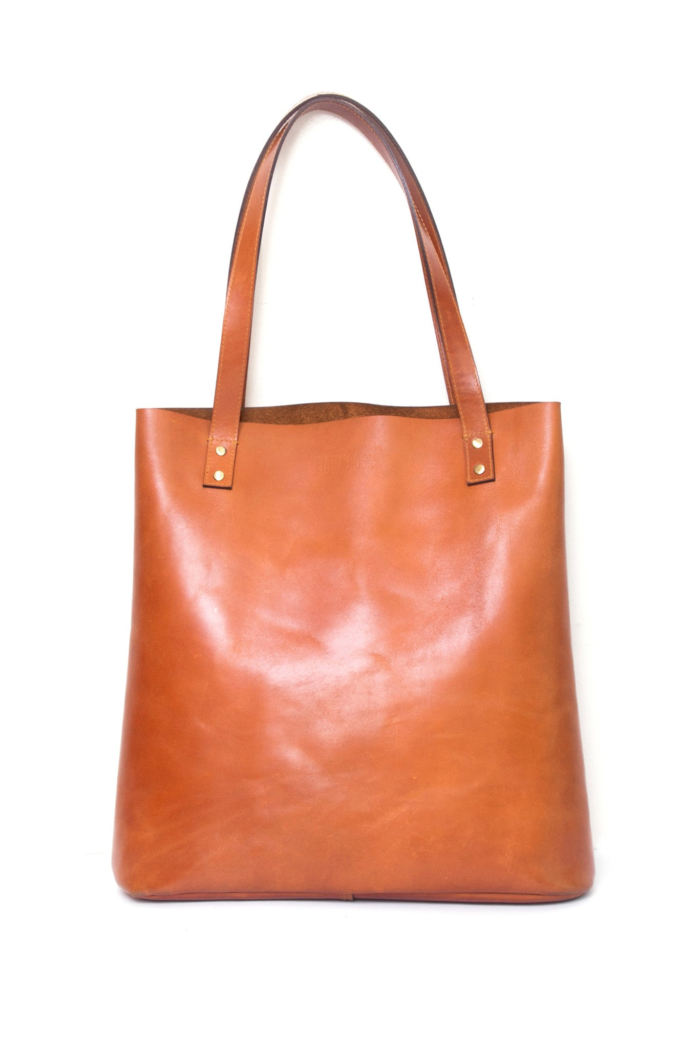 Henry Cognac Brown Leather Tote Bag by Liana Rosa