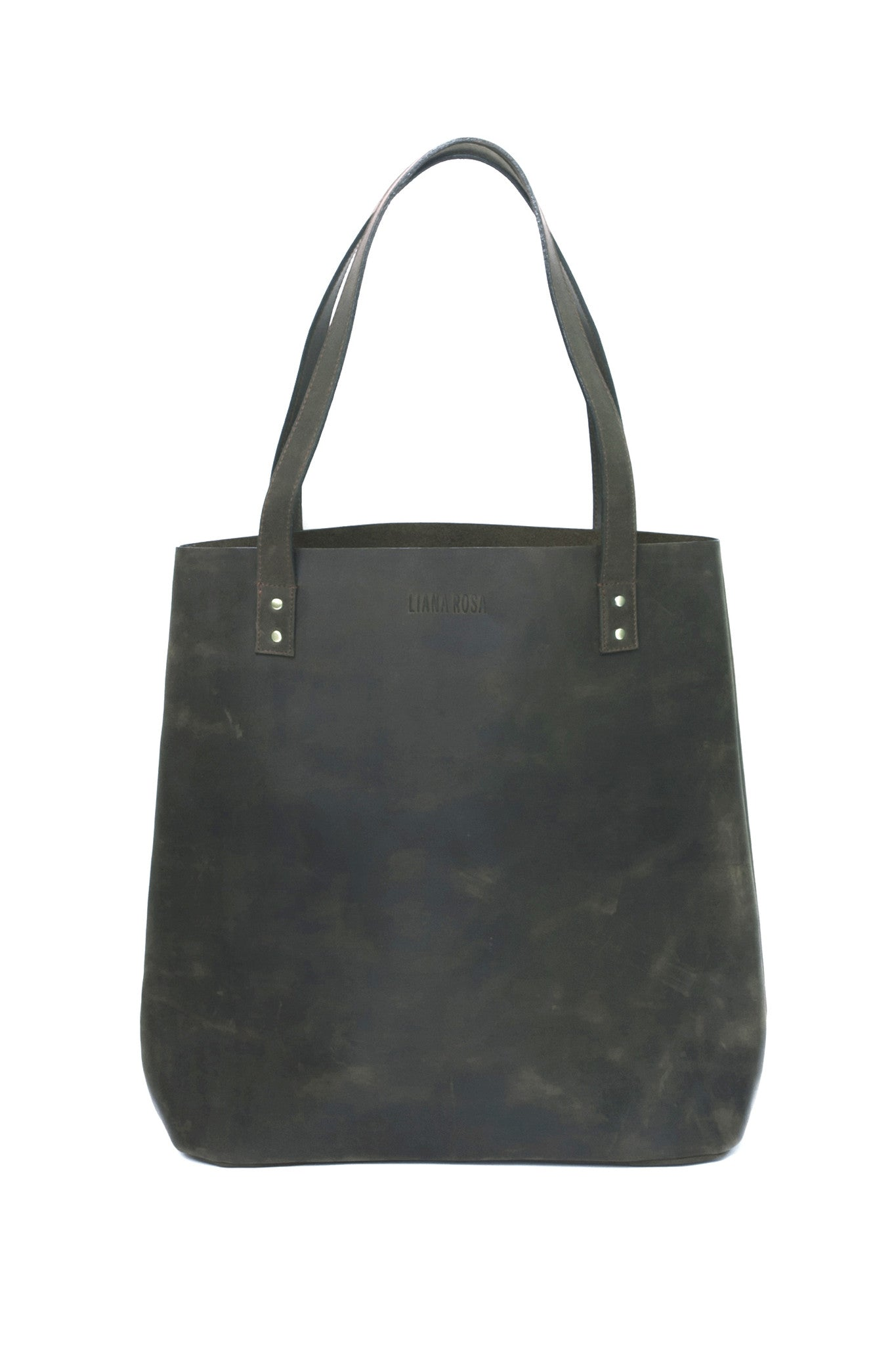Henry Dusty Grey Leather Tote Bag by Liana Rosa