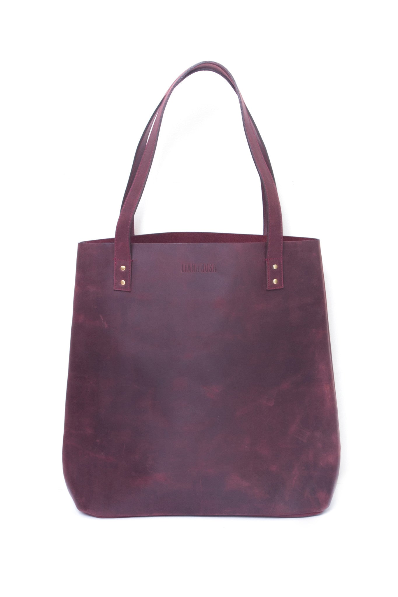 Henry Sangria Burgundy Leather Tote Bag by Liana Rosa