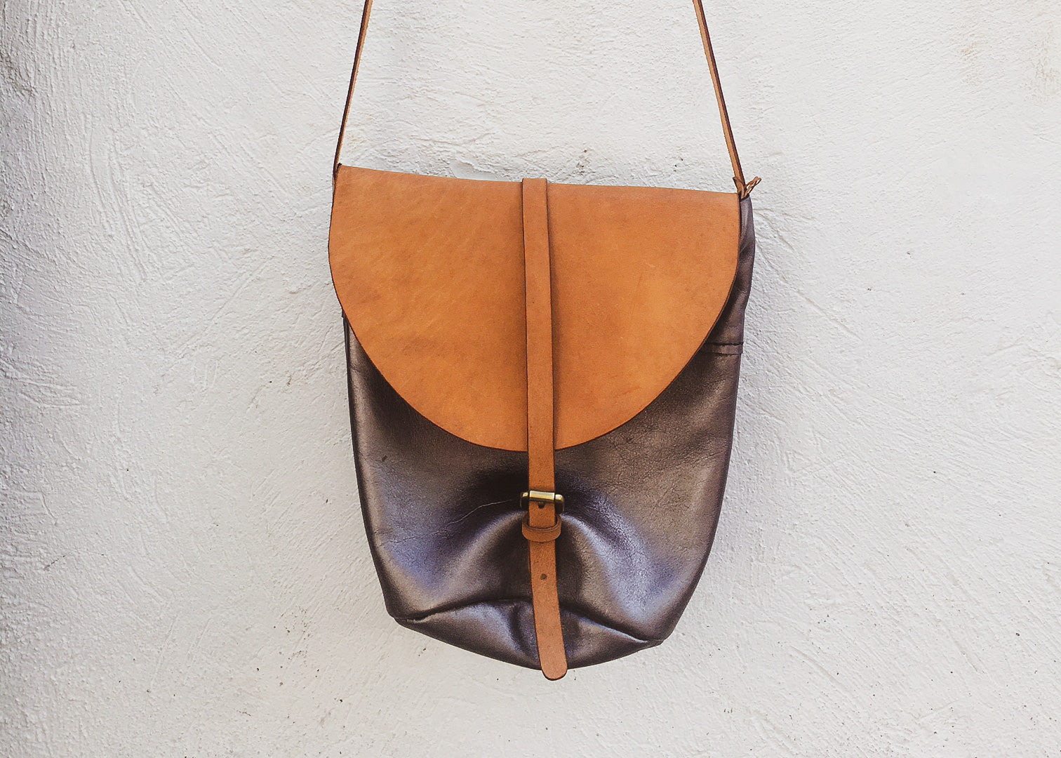 2-Way Sling - Metallic Grey w/ Natural Veg Tan