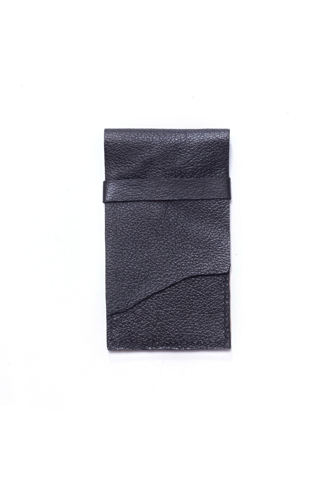 Stella Black & Gold Leather Raw iPhone Sleeve by Liana Rosa
