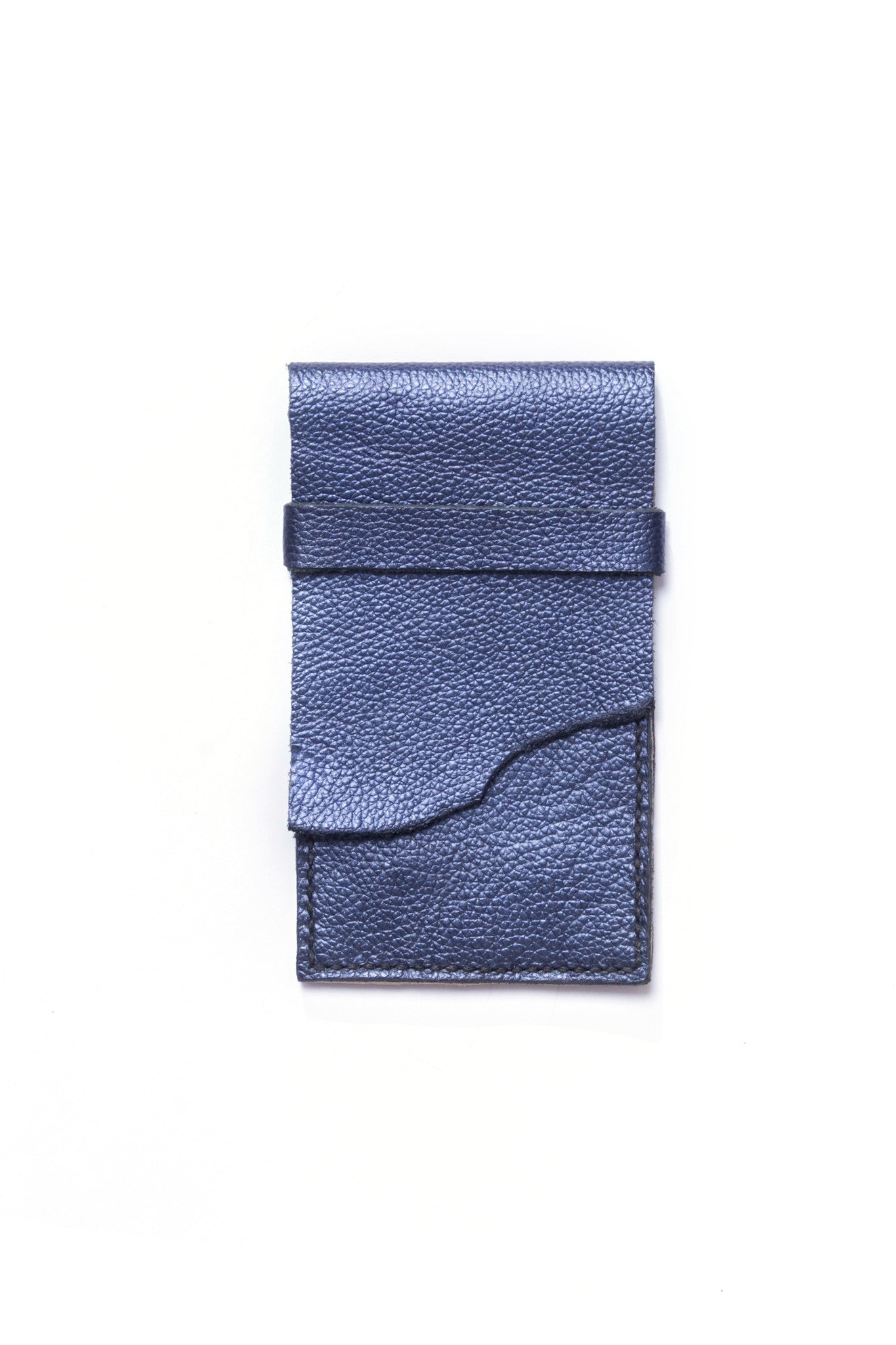 Stella Blue & Gold Leather Raw iPhone Sleeve by Liana Rosa