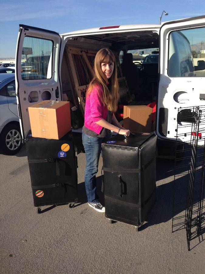 The less glamorous side of the sock business: being your own roadie at trade shows.