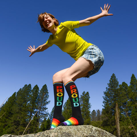 proud pride gay lgbt lgbtq human rights campaign gumball poodle fun socks
