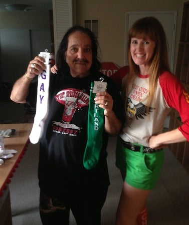 Ron Jeremy and Erica at the knee sock epicenter of Los Angeles!