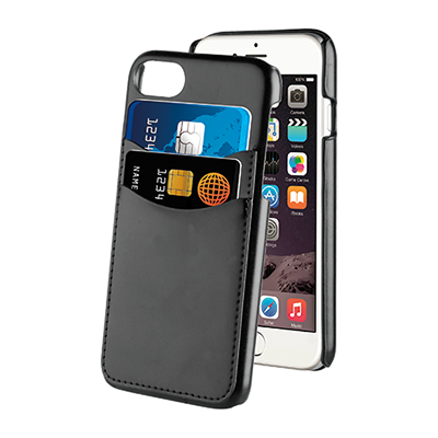 KEY Leather Case with Two Card Slots for Apple iPhone 7