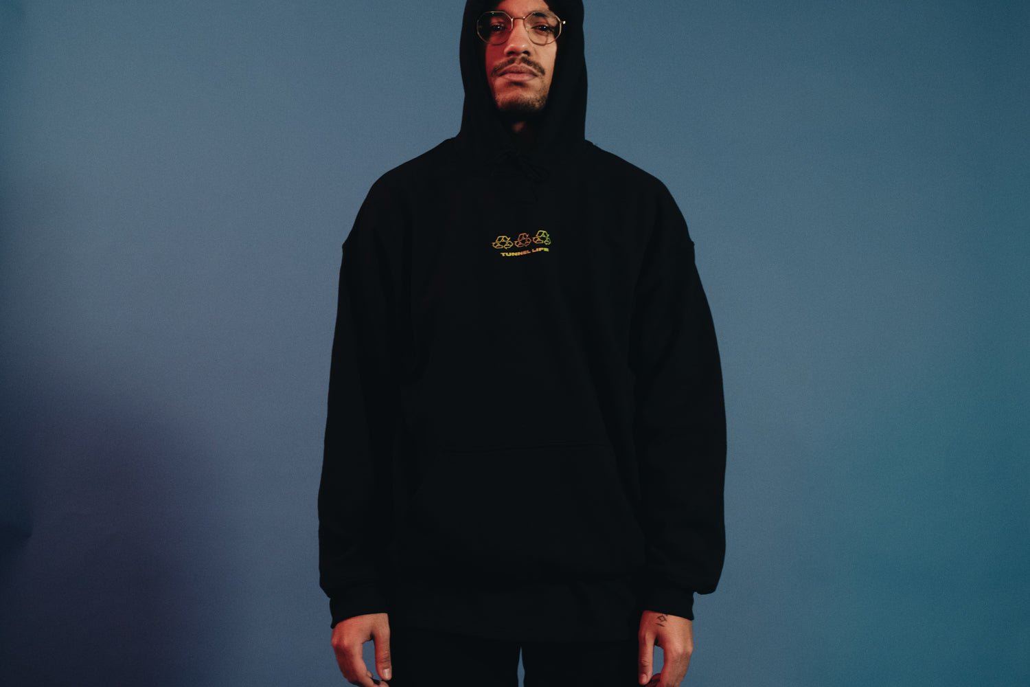 TUNNEL LIFE (HOODY / BLACK)