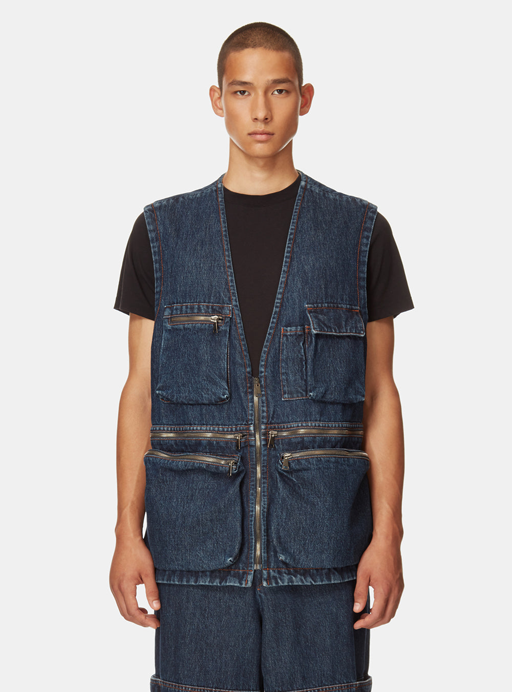 AMGALA OVERSIZED DENIM GILET