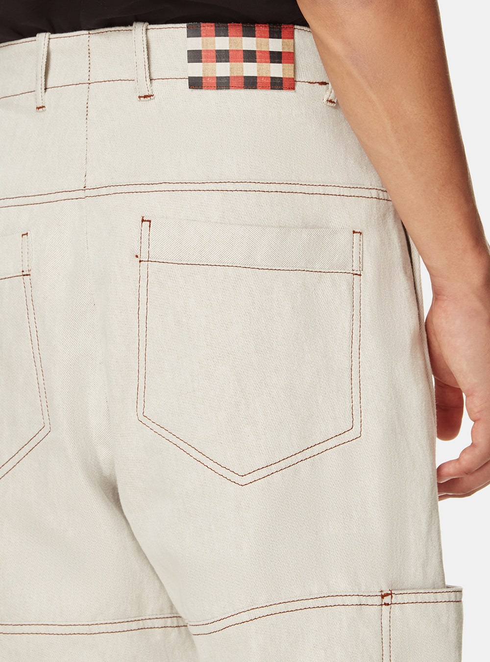 TEMARA WHITE DENIM WORKWEAR TROUSER
