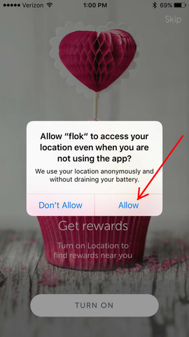 Allow location services | flok | Kindred People