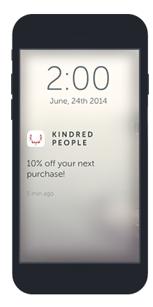 Kindred People rewards on the flok app