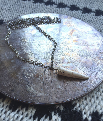 black sheep jewelry tusk necklace
