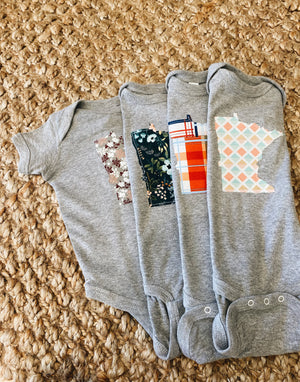 mn patch onesie