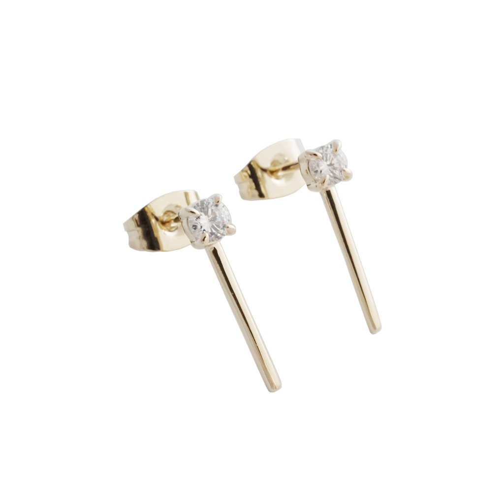 aspen crystal bar studs