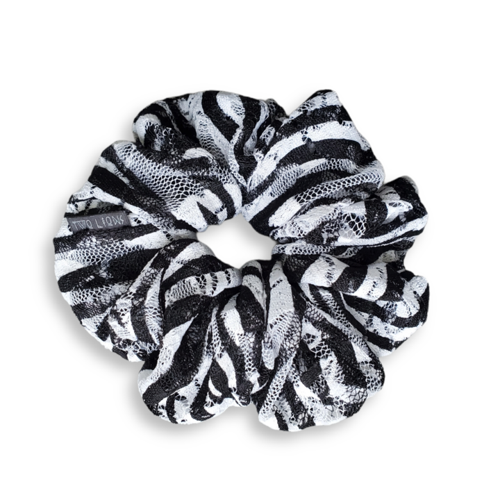 zebra striped scrunchie
