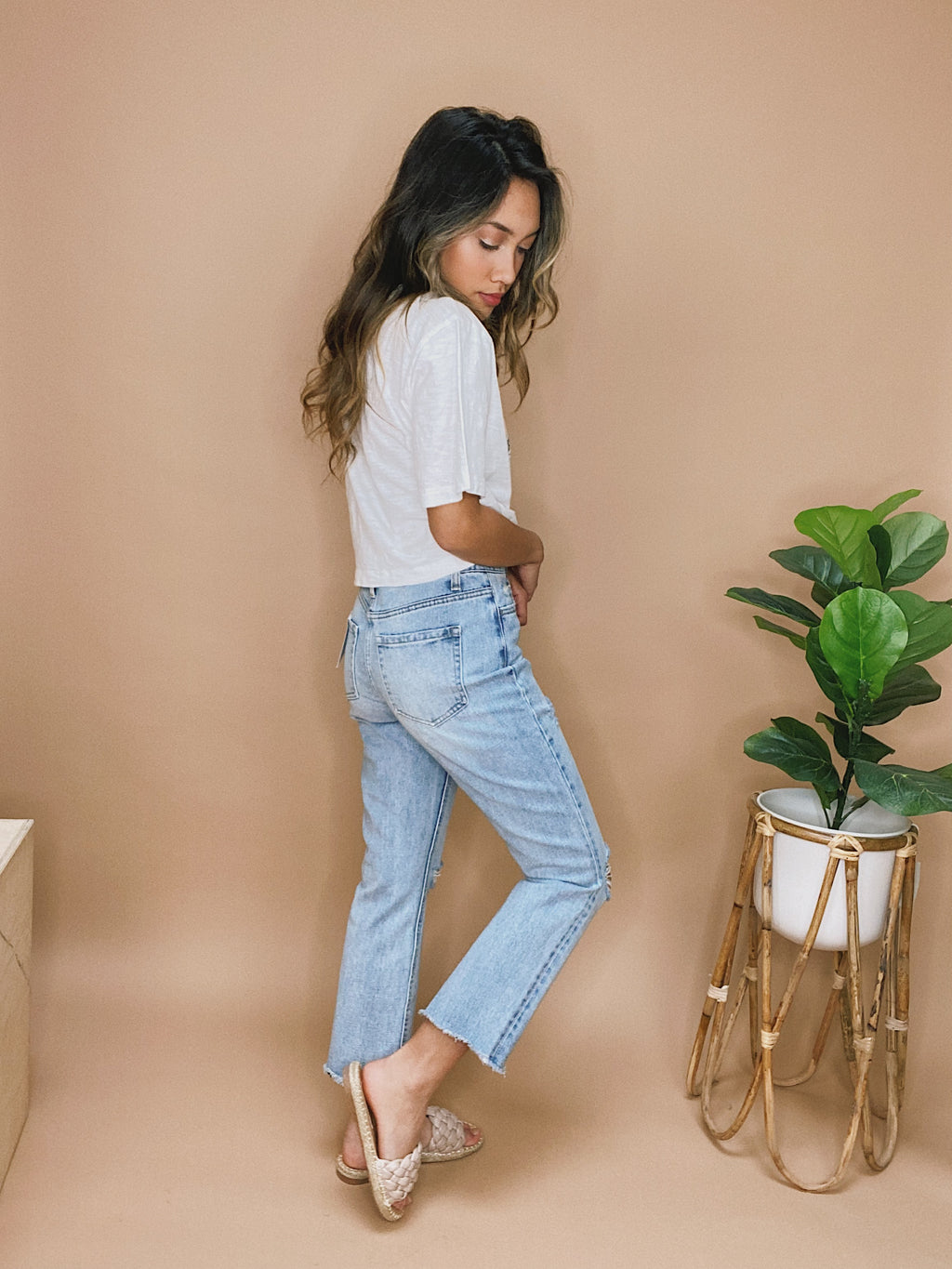athens wide wicker hat