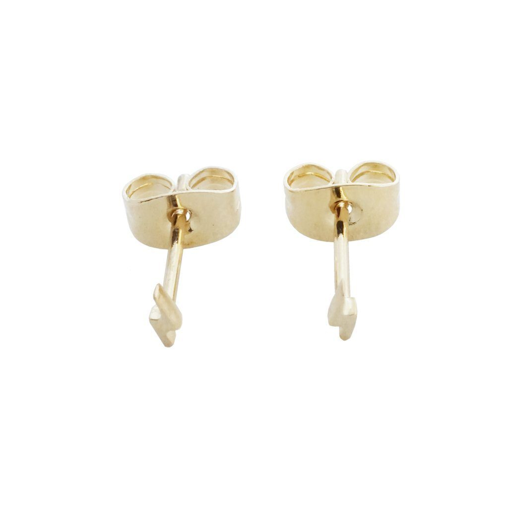 mini lightning stud earrings