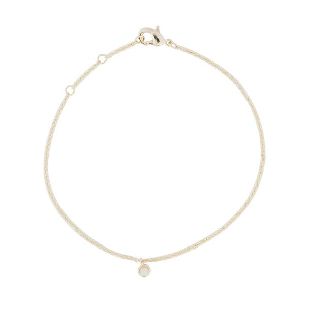 honey cat opal bezel set bracelet