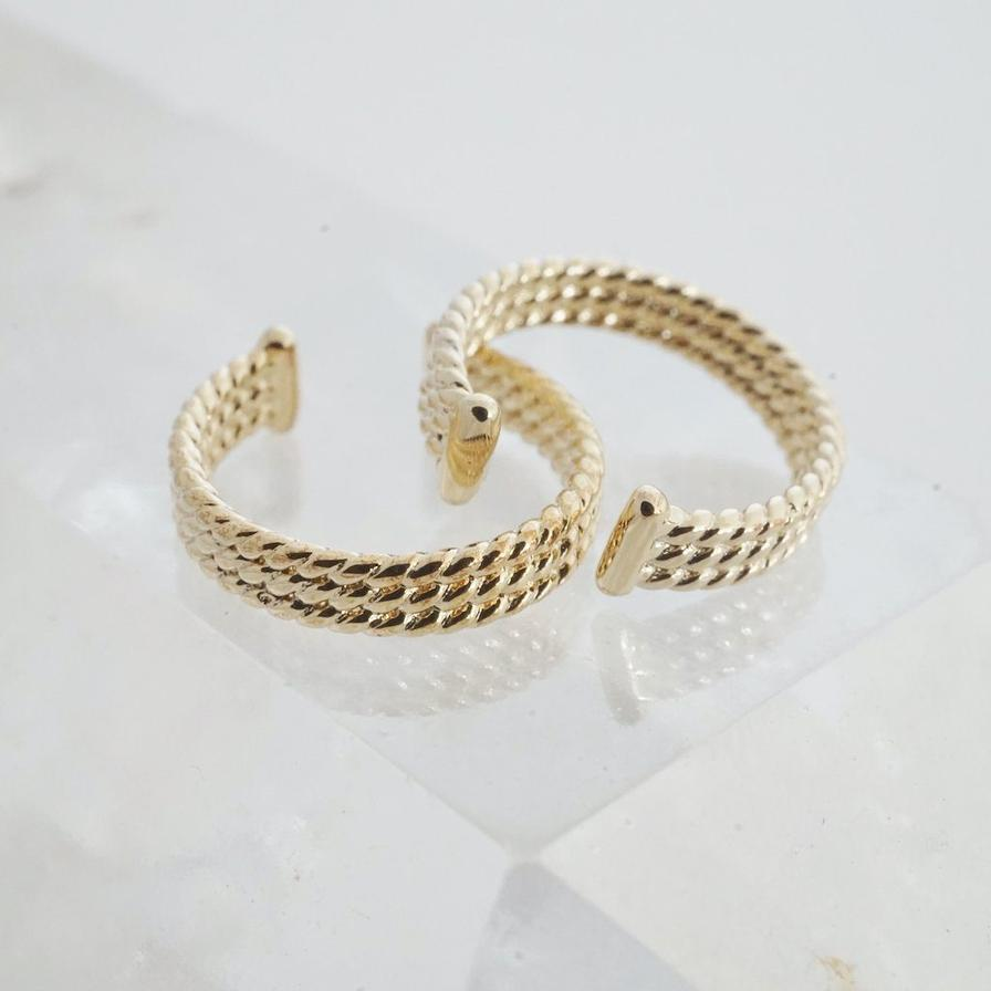roped ear cuffs