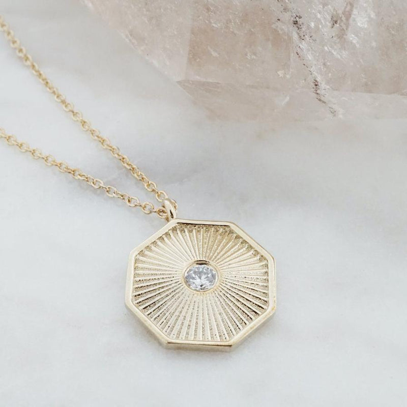 sunbeam pendant necklace