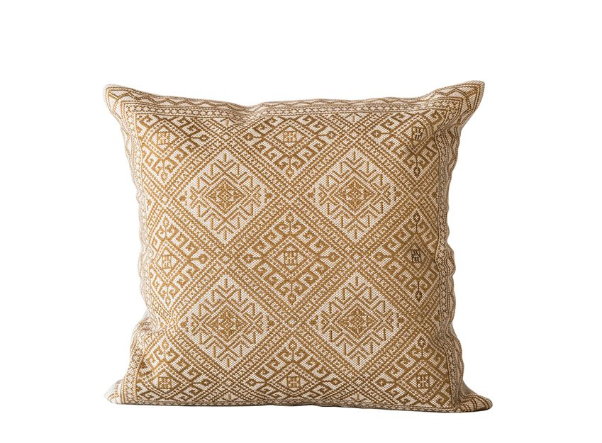 golden boho pillow