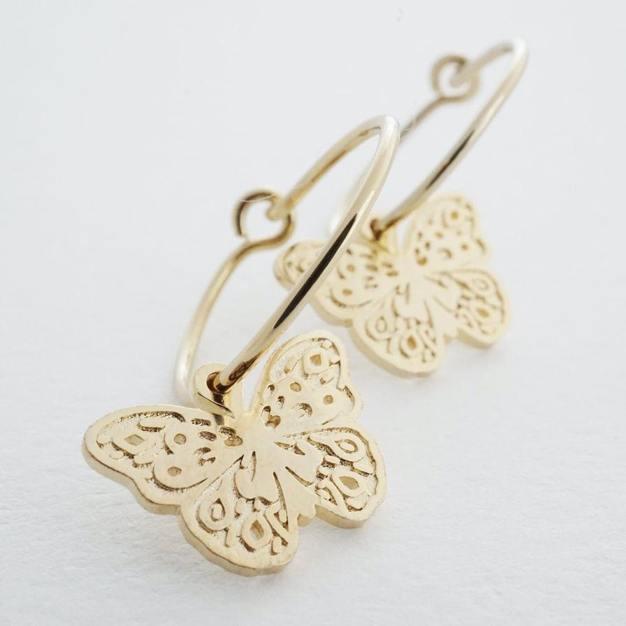 magic charm butterfly hoops
