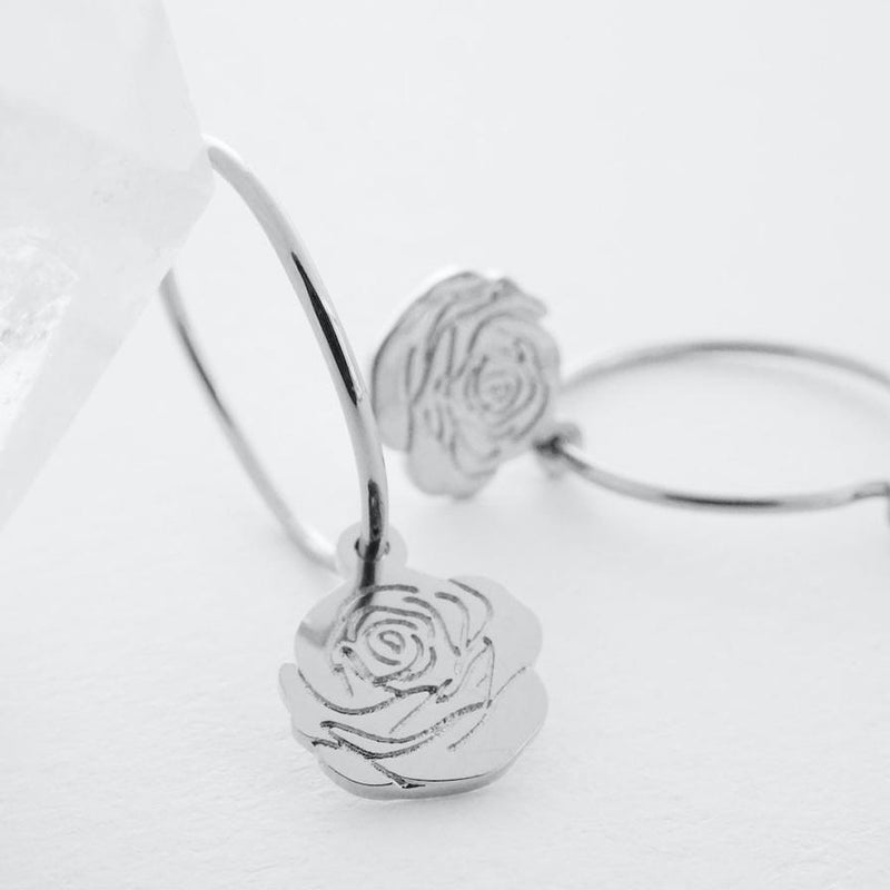 magic charm rose hoops
