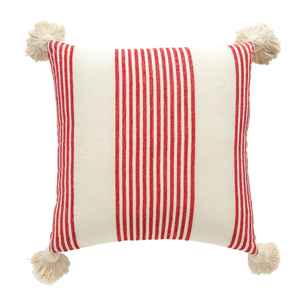 rayon + cotton striped pillow