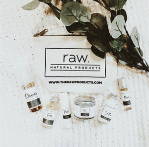 raw. face care travel set