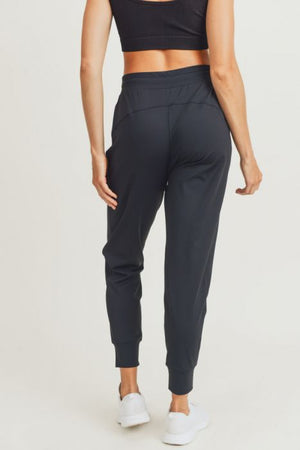 side paneled cuffed joggers